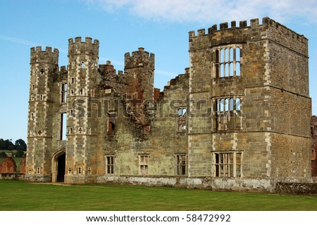Cowdray Ruins, West Sussex The ruins of the great Tudor house of Cowdray in Midhurst, West Sussex.