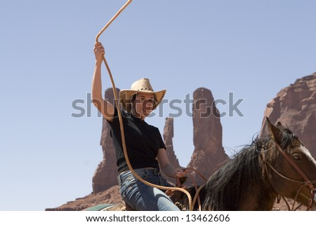 Cowgirl - stock photo