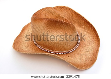 Cowgirl Hat Isolated - stock photo