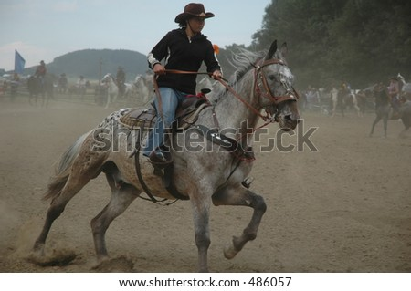 cowgirl on rodeo show