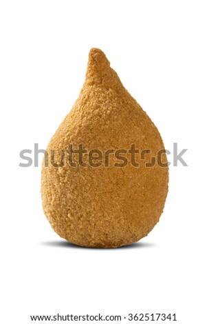 coxinha de frango, brazilian chicken croquette - stock photo