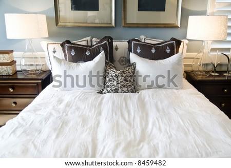Cozy bedroom Interior - stock photo