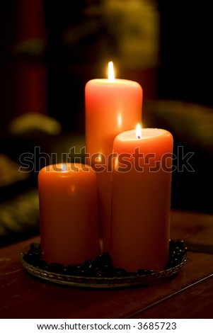 Cozy candlelight