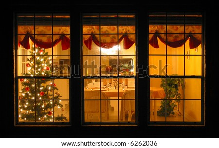 Cozy Home with Christmas Celebration - stock photo
