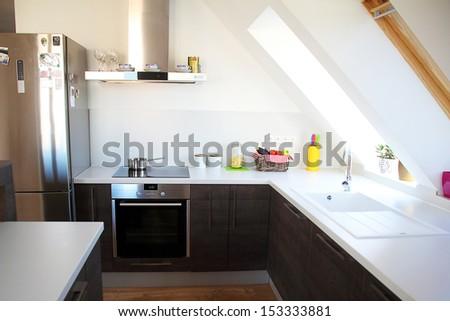 cozy kitchen - stock photo