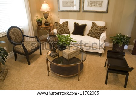 Cozy luxury living room. - stock photo