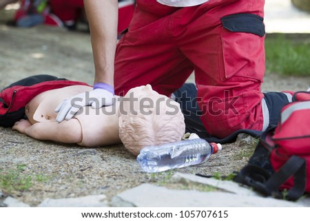 CPR - stock photo