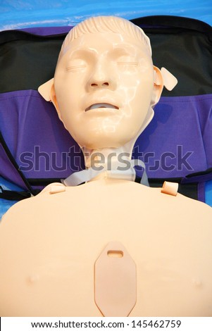 CPR Doll Training - stock photo