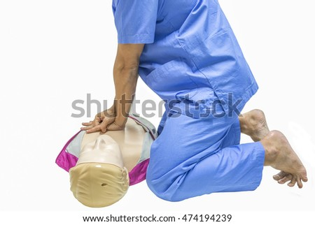 cpr training isolated