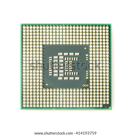 CPU (Central Processing Unit) isolated on white background - stock photo