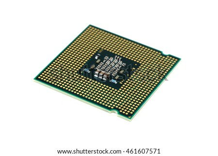 CPU (Central Processing Unit) isolated on white background