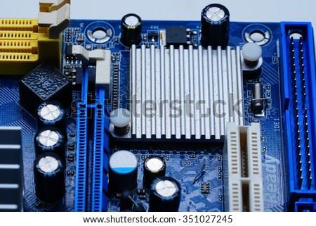CPU Close : This image was intended to have a shallow depth of field : Suitable for businesses in the various activities .  - stock photo