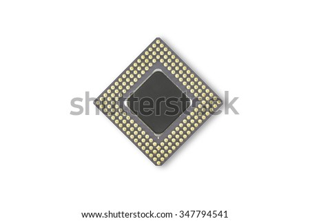 CPU Computer processors isolated on white background - stock photo