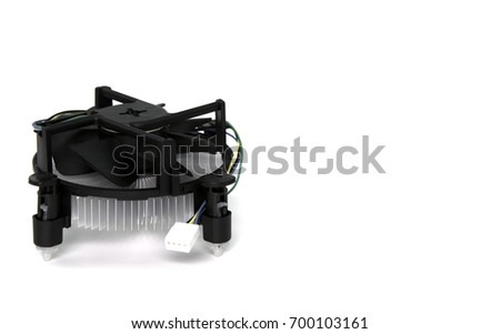 CPU cooling fan isolated on white background