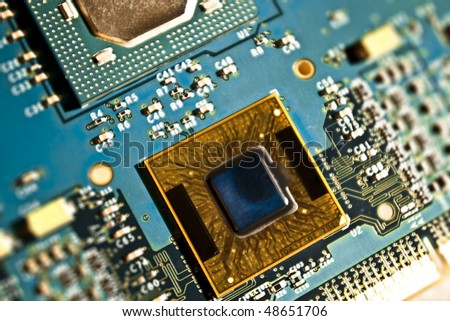 cpu core - stock photo