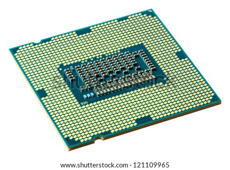 CPU downside isolated on white