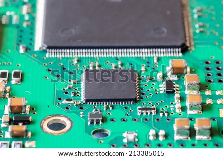 CPU Electronic circuit - stock photo