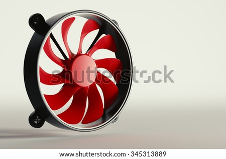 Cpu fan background 3d rendering. - stock photo