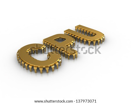 CPU letters like computer chips - stock photo