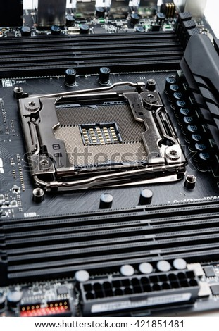 CPU socket on the motherboard.