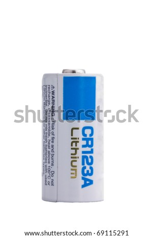 CR123A Lithium camera battery - stock photo