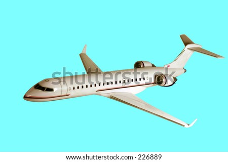 Cr7 airplane on blue background - stock photo