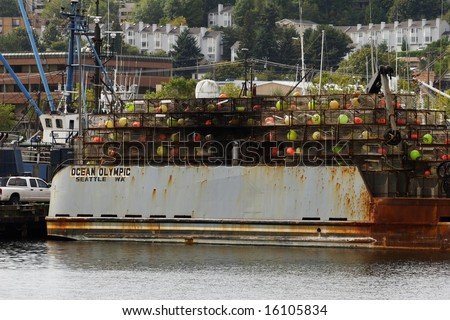 Crab boat featured on the Deadliest Catch - stock photo