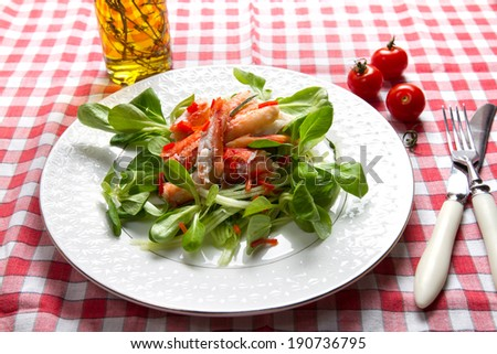 Crab, chili and cucumber salad