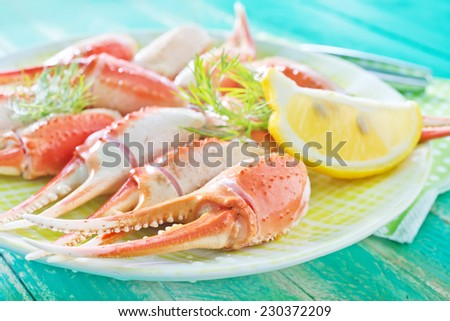 crab claws - stock photo