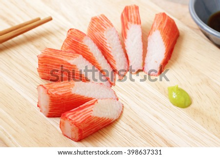 Crab stick of japanese food