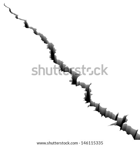 crack  - stock photo