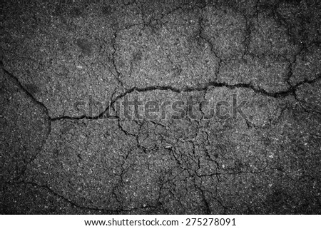 Crack asphalt background - stock photo