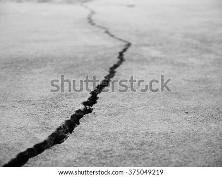 crack floor texture closeup - stock photo