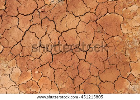 crack in the ground, background. - stock photo
