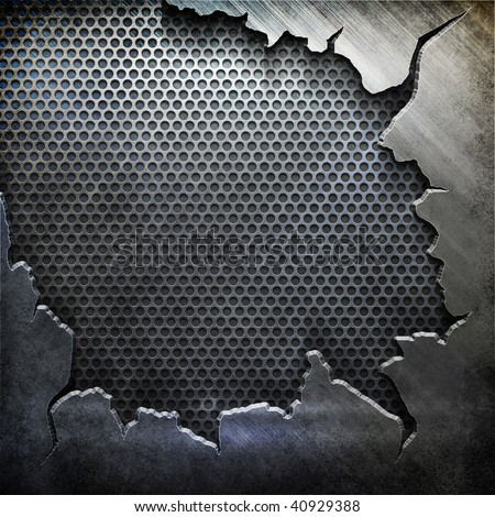 crack metal background template (big pack) - stock photo