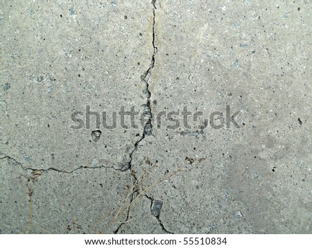Crack on a concrete wall - stock photo