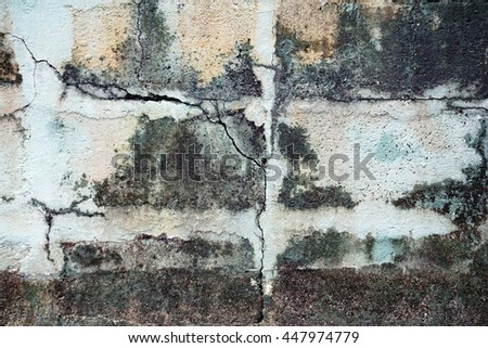 crack on the cement  wall background