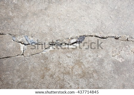 crack on the floor background