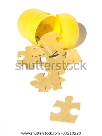 crack open the puzzle - stock photo