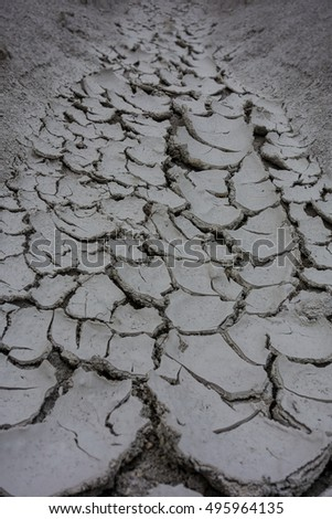 Crack soil during hot and dry season