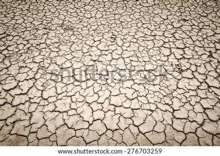 Crack soil on dry season, Global worming effect.Crack soil on dry season, Global worming effect. - stock photo