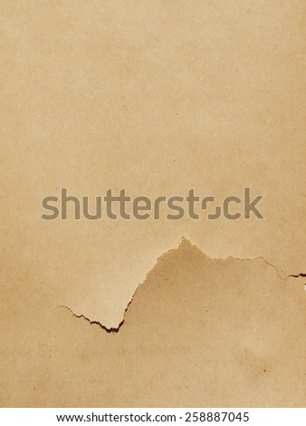 cracked brown paper texture - stock photo