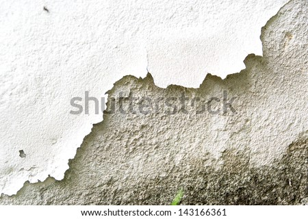 cracked color caused by moisture - stock photo