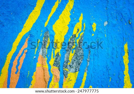 cracked concrete pastel tone wall background,old wall - stock photo