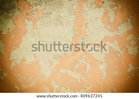 cracked concrete vintage wall background,old wall, vignette  - stock photo