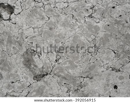 Cracked concrete wall background. Vintage grunge texture close-up