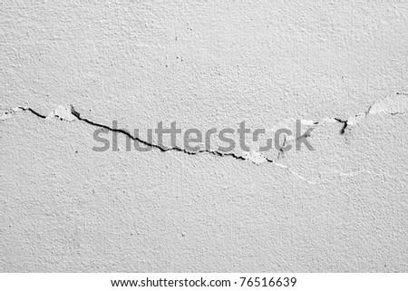 cracked concrete wall texture - stock photo