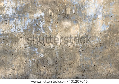Cracked concrete wall texture background. Material construction. - stock photo