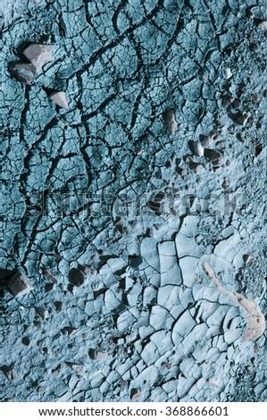 cracked contaminated earth - stock photo
