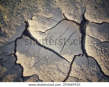 Cracked dry soil